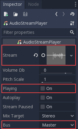 Audio buses — Godot Engine latest documentation