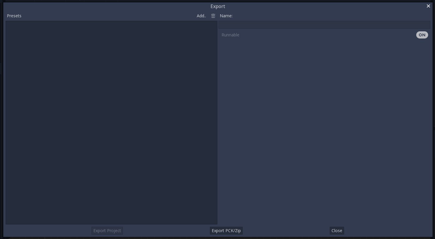 Exporting projects — Godot Engine latest documentation