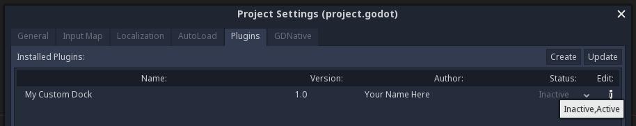 Making plugins — Godot Engine latest documentation