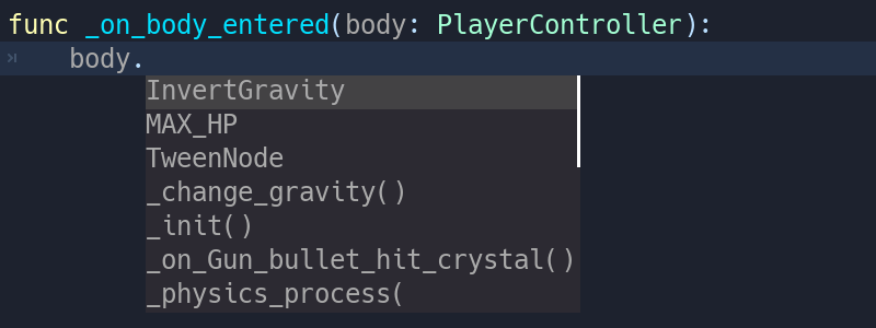 Static typing in GDScript — Godot Engine latest documentation