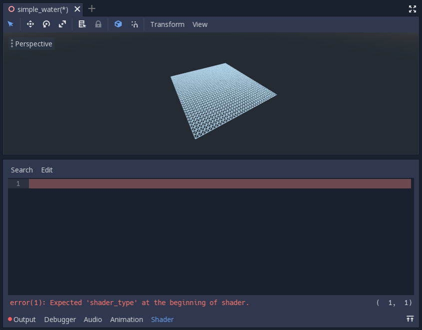 Your first Spatial shader — Godot Engine latest ドキュメント