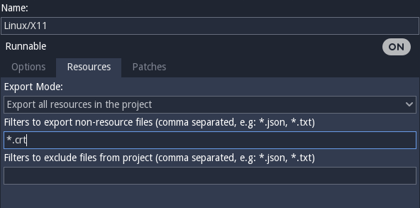 SSL certificates — Godot Engine latest documentation