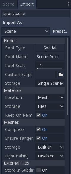 Importing 3D scenes — Godot Engine latest documentation